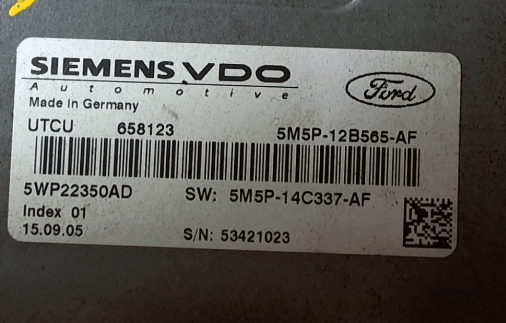 Блок управления (ЭБУ) Ford; Focus II 2005 г Хэтчбэк 5 дв.; 1.6 л; Siemens 5WP22350AD, ДВС